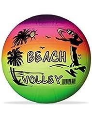Beachball / Volleyball / Strandball / Spielball / Regenbogenball ca. 21,6 cm in Neon-Regenbogenfarben