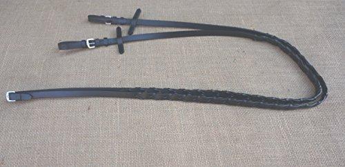 weiche Zügel Lederzügel für Trensen geflochten Länge 2,95 m