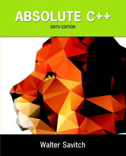 Absolute C++ plus MyProgrammingLab with Pearson eText -- Access Card Package