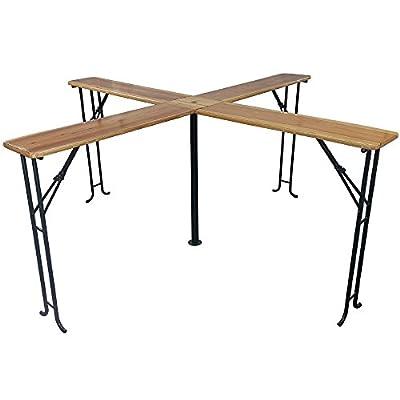 Biertisch Quattro XXL 248 x 248 x 105 cm klappbar kreuzförmiger Stehtisch Bierzeltgarnitur / Festzeltgarnitur Tisch für bis zu 20 Personen von PROHEIM - Gartenmöbel von Du und Dein Garten