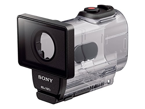 Sony AKA-DDX1K Ersatztür und wasserdichtes Gehäuse (bis 60 m wasserdicht, Fokussierung auch beim Tauchen, große Tasten, geeignet für Action Cam FDR-X1000)