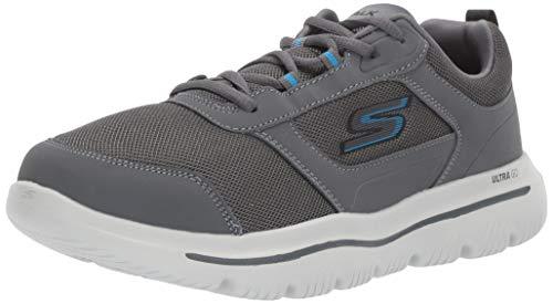 Skechers Men's Go Walk Evolution Ultra-Enhan Trainers, Grey (Charcoal Blue Ccbl), 8...