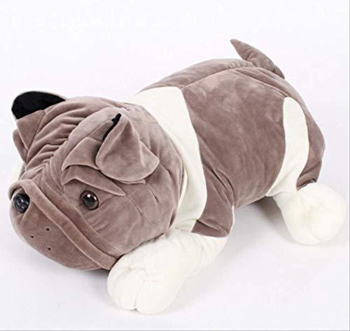 wuying Süße Sandhund Hund Plüsch Spielzeug, Große Hundepuppen Halten Kissen, Kleine Liegende Hund Puppegeburtstag Sitzt 20cm grau (Kissen Haustiere Traktor)