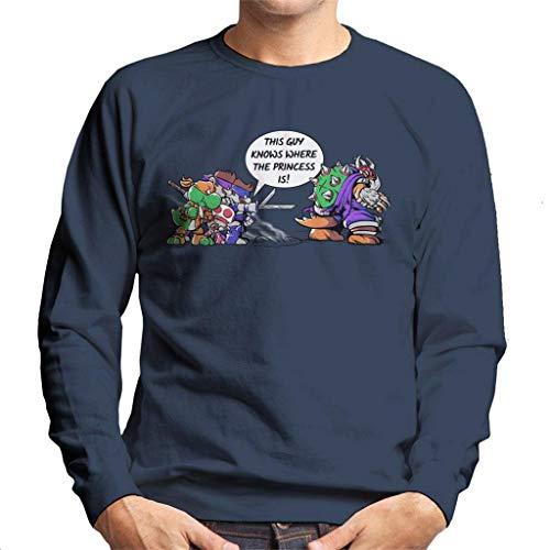 Cloud City 7 Super Ninja Bros TMNT Super Mario Men's Sweatshirt