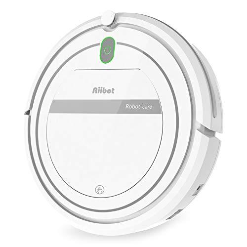 AIIBOT Saugroboter 4-Stufen-Reinigungssystem, leistungsstarke Saugkraft, Reinigt Hartböden und Teppiche, leise, Staubsauger Roboter für Tierhaare (T288-white-1)