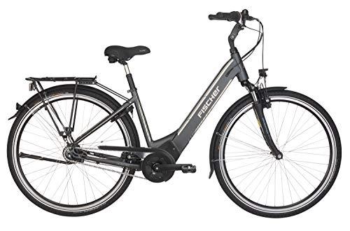 "FISCHER E-Bike City CITA 5.0i (2019), schiefergrau matt, 28\"", RH 44 cm, Brose Mittelmotor 50 Nm, 36 V Akku im Rahmen"