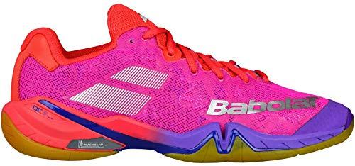 Babolat Scarpe da Badminton Donna Rosa Pink, Rosa (Pink), 40 EU