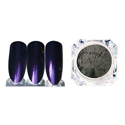 Sunenjoy Magique Miroir Nail Glitter Poudres Acier Métal Placage Pâte D'argent Chrome UV Nail Art Conseils Poussière Paillettes (Violet)