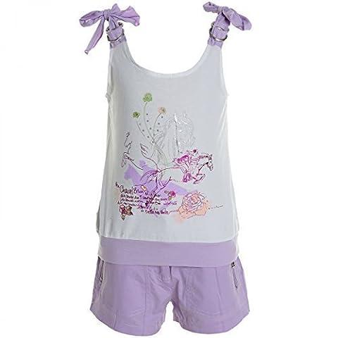 Kinder Mädchen Freizeit Kurzarm Shirt Jogging Hose Outfit 2tl Set Kleidung 20469,