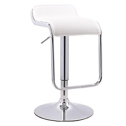 ZLL-Stühle Home bequemer Klappstuhl Hocker Hocker Bar Küche Frühstück Esszimmerstuhl kann auf und ab/Drehstuhl Barhocker PU-Ledersitz (weiß) chair and stool (Sitz-hocker-bar Weißes)