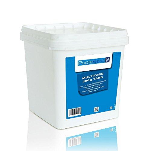 5 Kg - PoolsBest® Chlor Multitabs 5in1, 200g Tabs