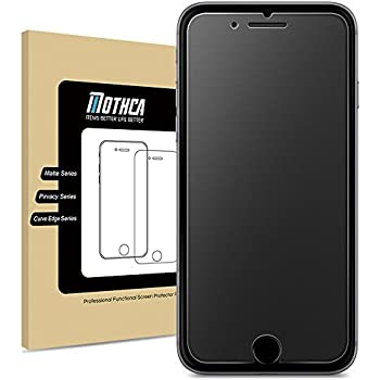iPhone 7 Plus 8 Plus Mat Verre Protection d'écran Screen Protector, Mothca antireflets & Anti