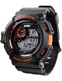 ufengke® feine Qualität elegante Multifunktionsstoßfeste Sport Armbanduhren für Männer, gepanzerten wasserdicht BergquarzArmbanduhren, orange