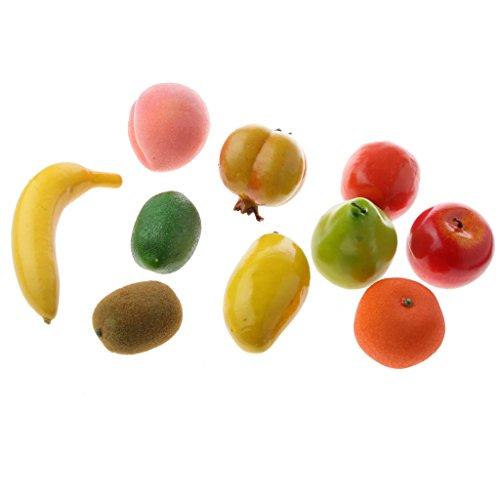 MagiDeal 10 Stück Deko Kunstobst künstliche Frucht Dekoration