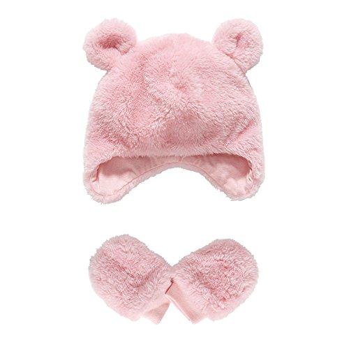 Mothercare Baby-Mädchen Fäustlinge Pink Fluffy Rose, XS