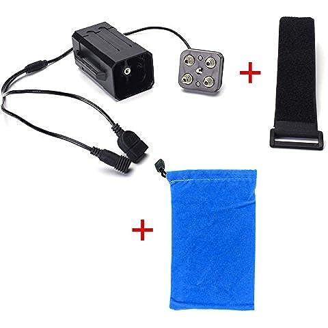 ANBIT Impermeable de la caja de la batería 18650 de la lámpara de la bicicleta de múltiples funciones del Poder caja de banco para los teléfonos de la tableta con dos puertos USB del PC