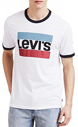 Levis Herren T-Shirt Ringer Tee 39980-0000 Weiß, Größe:M