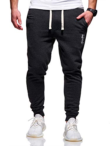JACK & JONES Herren Jogginghose Sweat Pants Trainingshose Freizeithose Joggers Streetwear (X-Large, Dark Grey Melange)