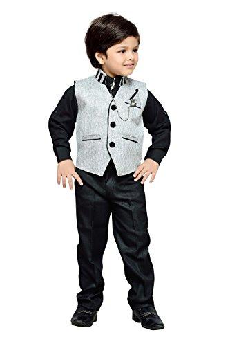 AJ Dezines Kids Party Wear Suit Set for Boys (609_GREY_7)