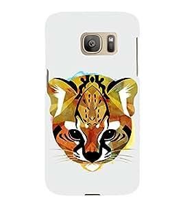 HiFi Designer Phone Back Case Cover Samsung Galaxy S7 :: Samsung Galaxy S7 Duos :: Samsung Galaxy S7 G930F G930 G930Fd ( Colorful Cat Cheetah Face Tribal Pattern Design )