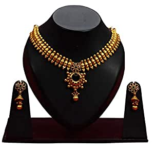 Buy Style Club Contemporary Designer Chettinad Matte Choker Set For Women At Amazon In