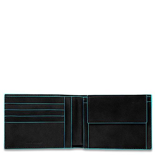 Piquadro Blue Square Münzbörse, 0.43 liters, Schwarz (Nero) -