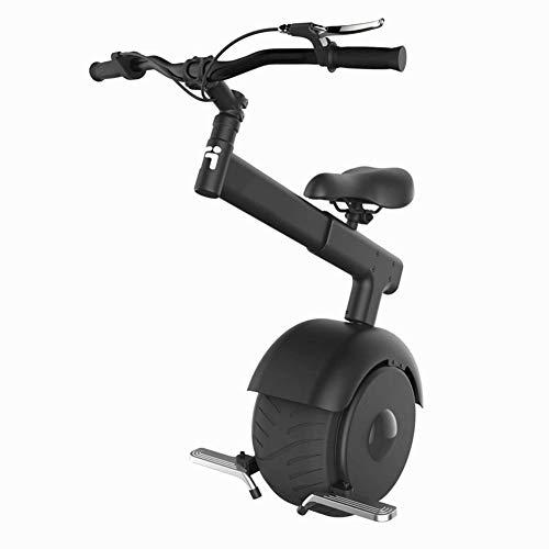 """GREATY Elektrisches Einrad, 800W 10\"""", Einrad Balance Scooter Roller mit Sitz und Lenker, 15 km/h Somatosensorisch und Beschleuniger, Elektrischer Scooter Unisex Erwachsene,Black,50km"""