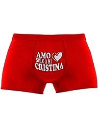 Regalos divertidos para hombre   Amo solo a mi Cristina   Navidad   Cumpleaños   Aniversario   un regalo de Navidad