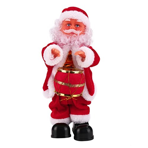 Electronic peluches, Mml Père Noël bébé doux en peluche chantant animés en peluche poupée de Noël jouet Cadeau