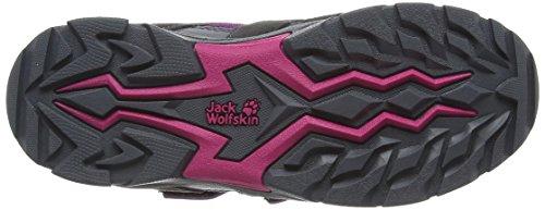 Jack Wolfskin VOLCANO TEXAPORE VC K Unisex-Kinder Trekking- & Wanderstiefel Mehrfarbig (Purple/Grey/Black)