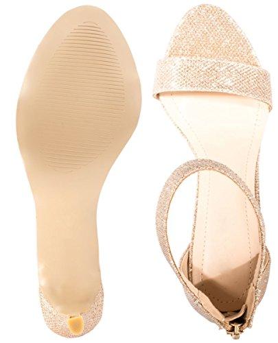 Elara - Scarpe con cinturino alla caviglia Donna Gold
