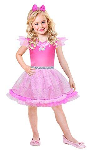 Barbie Kostüm Flügel - amscan x-9902382 Kinderkostüm Barbie Pink Diamond, 98-110 cm