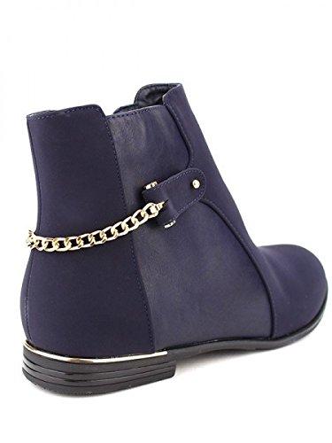 Cendriyon, Bottine blue ROTALINA Mode Chaussures Femme Bleu