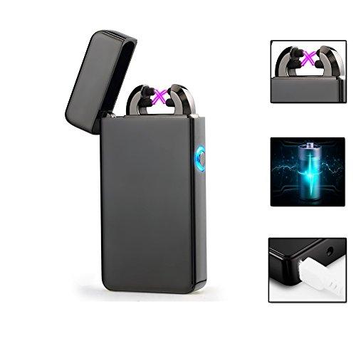 USB Feuerzeug,Elektronisches Feuerzeug Outdoor-Feuerzeug Double-Arc Elektronisches Lighter Aufladbar ohne Gas Bestes Geschenk