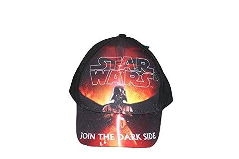 Disney Star Wars Jungen Cap Kappe Schirmmütze (52, Schwarz 3)