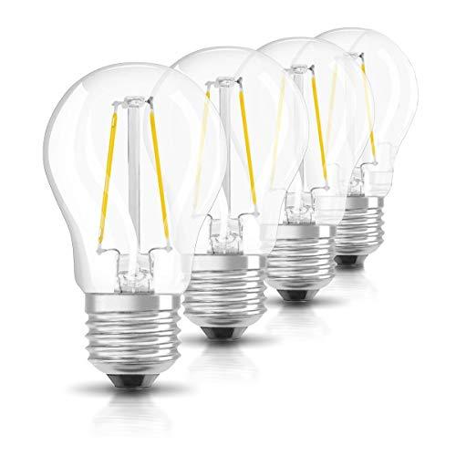 2W G45 E27 LED Glühlampe, 220~240 V, Warmweiß, 2700 K, 220lm, entspricht 20W Glühlampen, Mini klare Kugel Glühbirne, Retro Entwurf, mit Schraubsockel E27, 4 Stück (nicht dimmbar)