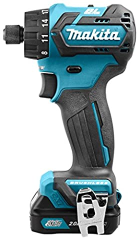 Brushless Drill Driver with 2x 2.0Ah batts and DC10SA charger