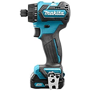 Makita DF032DSAJ 10.8 V Li-ion LXT Brushless Drill Driver Complete with 2 x 2.0 Ah Li-ion Batteries and Charger in Makpac Case
