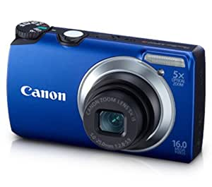 Canon PowerShot A3300 16.1MP Point-and-Shoot Digital Camera (Blue) with Memory Card, Camera Case