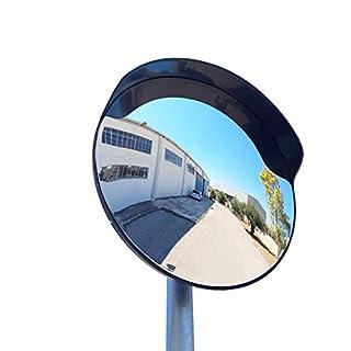 SNS SAFETY LTD ECM-60-B2-o Convex polycarbonate traffic mirror, Black color, diameter 60cm (24