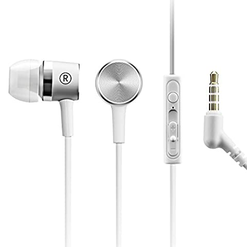 Mpow Écouteur Filaire Sport, Écouteurs intra-auriculaires Casque avec microphone et télécommande en ligne,Qualité Sonore Impressionnante, Compatible avec la plupart des Téléphones Intelligents, Kit Main Libre pour Wiko,Huawei,iPhone et Android