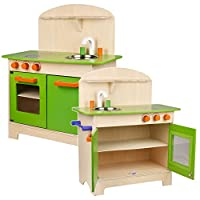URBN Toys Wooden 25Pc Kitchen Cookware Set & Accesories