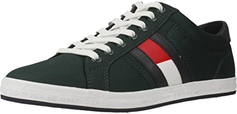 Tommy Hilfiger Essential Flag Detail Sneaker, Zapatillas para Hombre