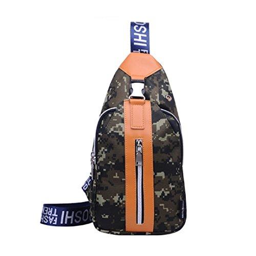 Wewod Moda Deportes Desequilibrar Mochila bolso de la honda para los Unisexo La pechera de Oxford / La bolsa de senderismo 16x 34 x 6 cm (L*H*W) (Camuflaje)