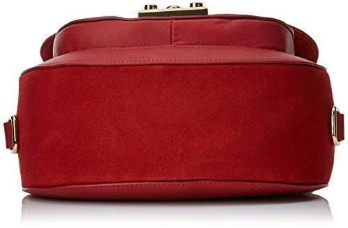 Twin Set Milano Damen As7t4d Umhängetaschen, 8x21x23 cm Rosso (Ultra Red)