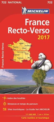 Carte France Recto-Verso Michelin 2017