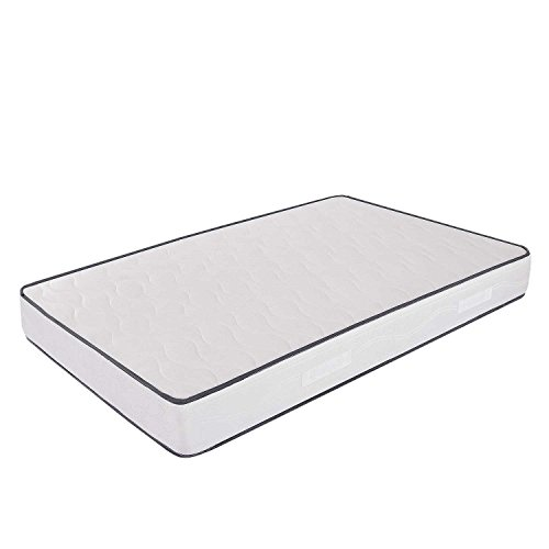 Ailime -Materasso in Water Foam 120x190 alto 20 Cm una piazza e mezza con Dispositivo Medico ortopedico e rivestimento Cotton anallergico ed antiacaro ideale per letto piazza e mezza, materasso piazza e mezzo con lastra in waterfoam da 18 Cm, Materasso Primavera