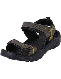 Globalite Men's Sandal & Floaters Blaze GPD0129 Olive Yellow