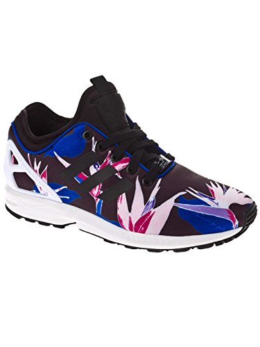 adidas Originals  ZX Flux NPS, Sneakers Basses adulte mixte Noir - Schwarz (Schwarz/Blau/Rosa)