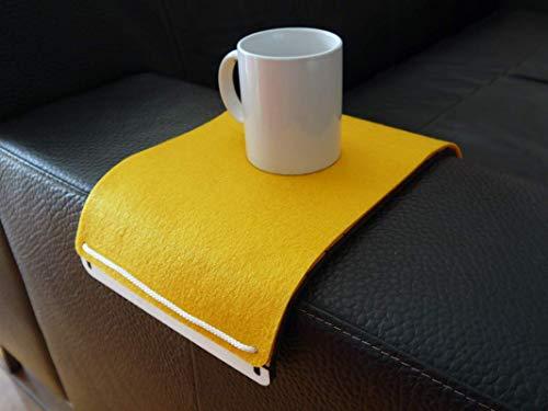 Tavolino da bracciolo divano salotto con cover lavabile in feltro in 6 Colori come giallo Tavolo poltrona in legno tagliato a laser Tavolini di design moderno Tavoli da designer italiano